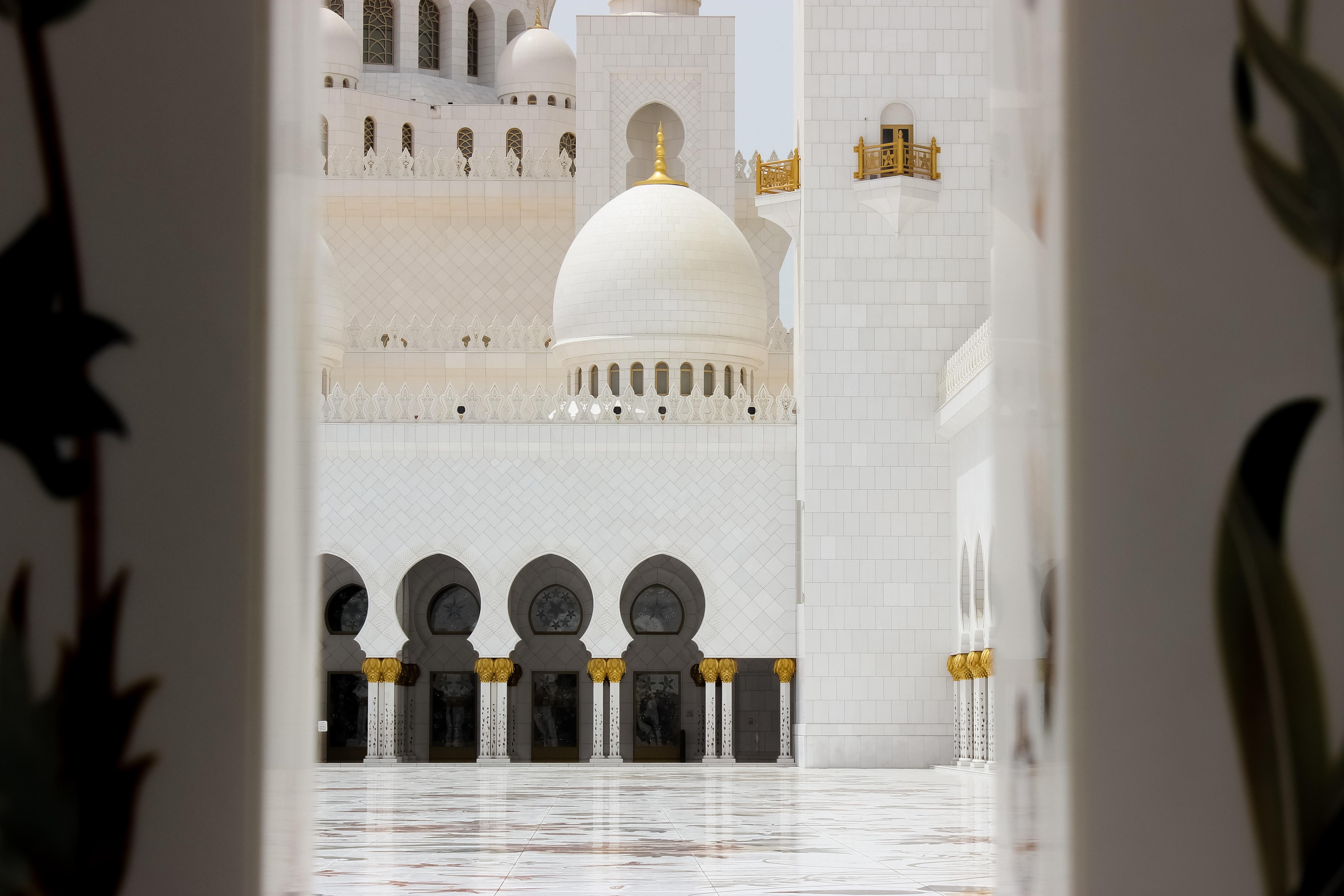 white concrete temple photo