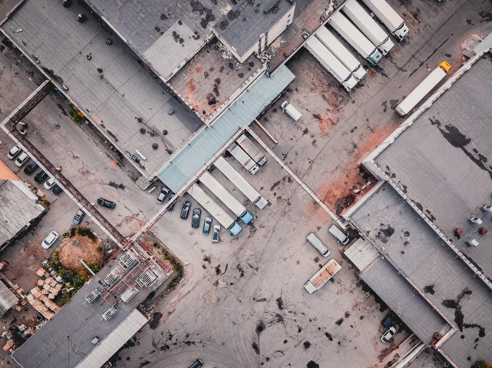 aerial photography of community