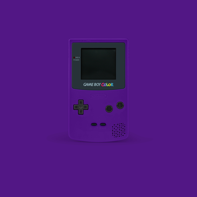 purple Nintendo GameBoy Color