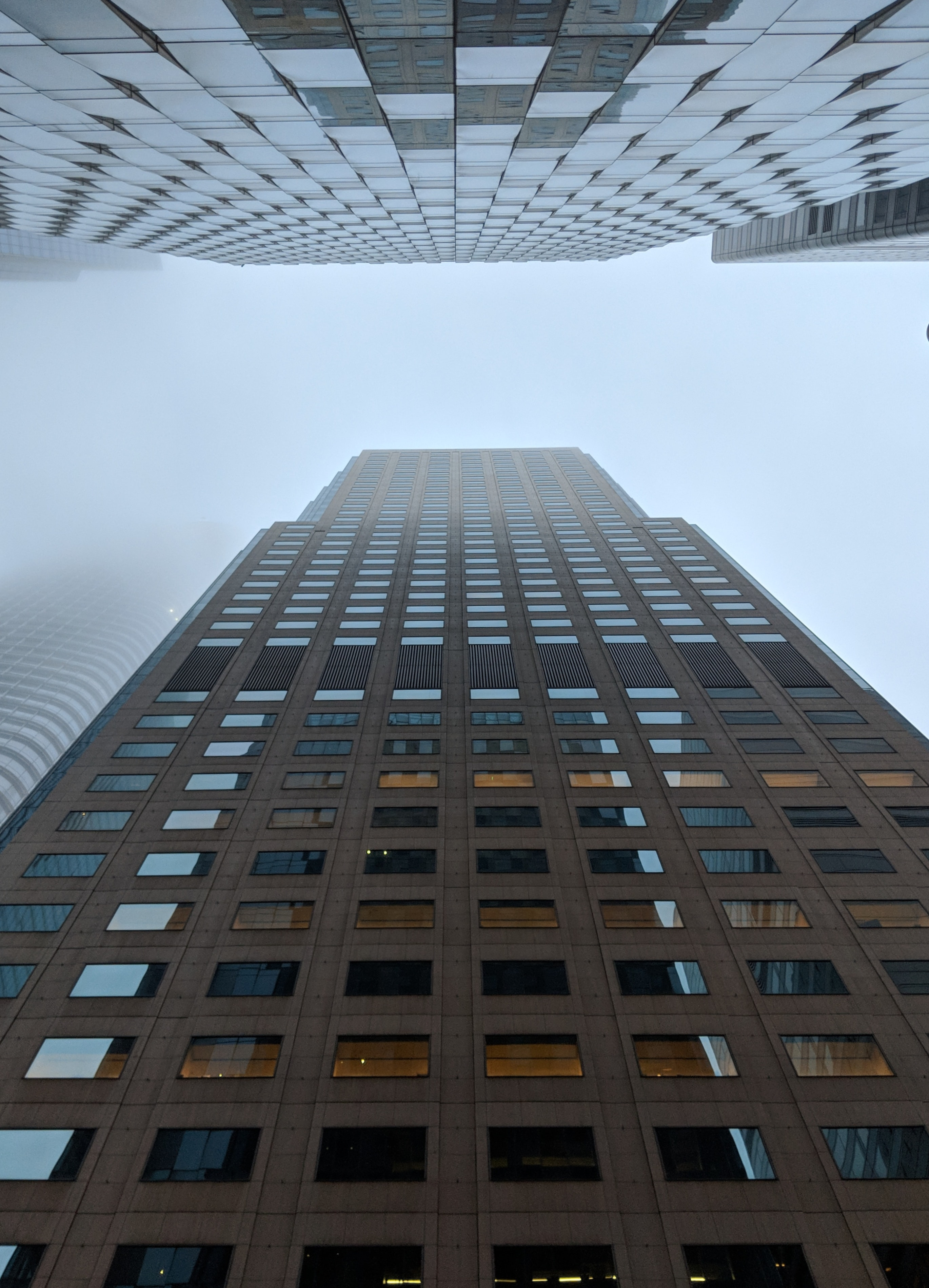 worm's view of building