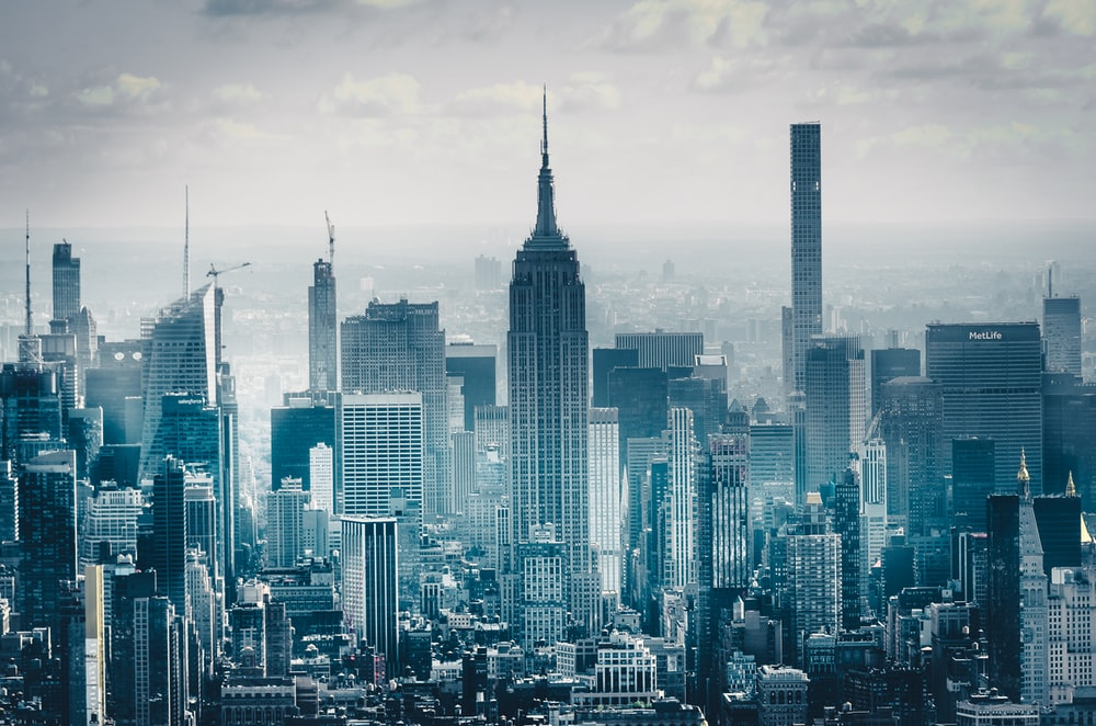 birds eye photography of high rise buildings