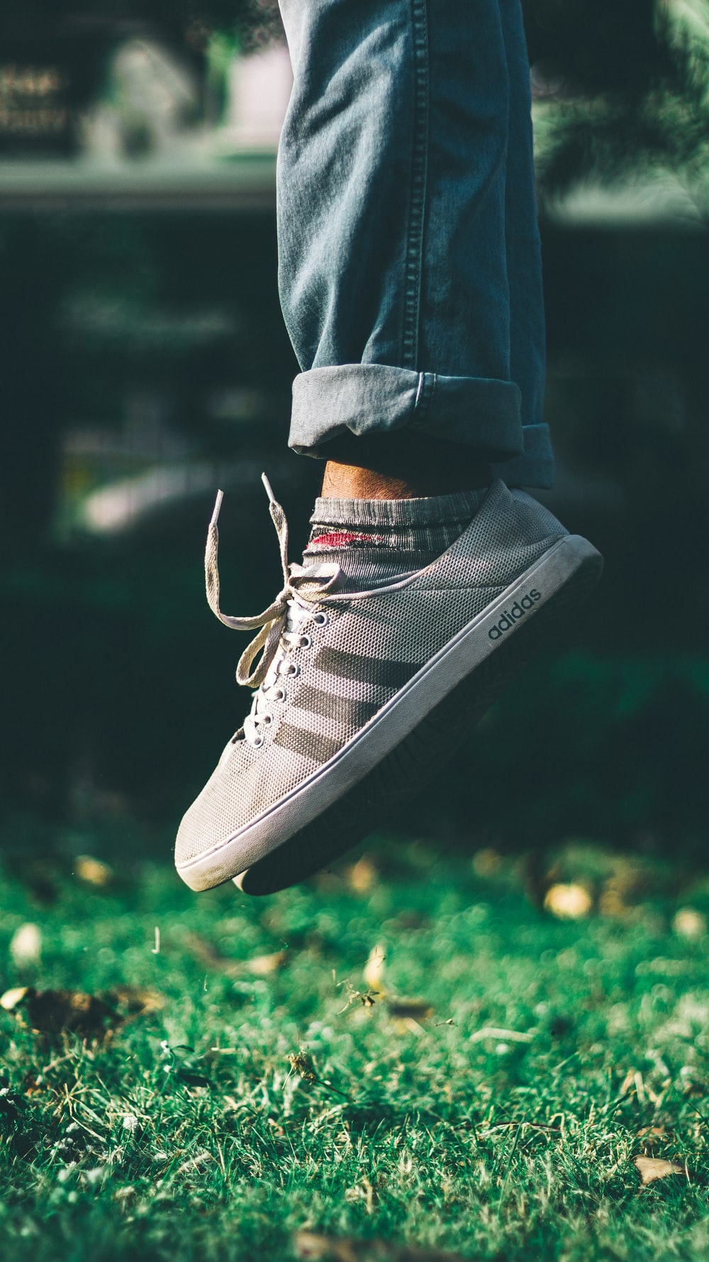 gray adidas NEO sneakers