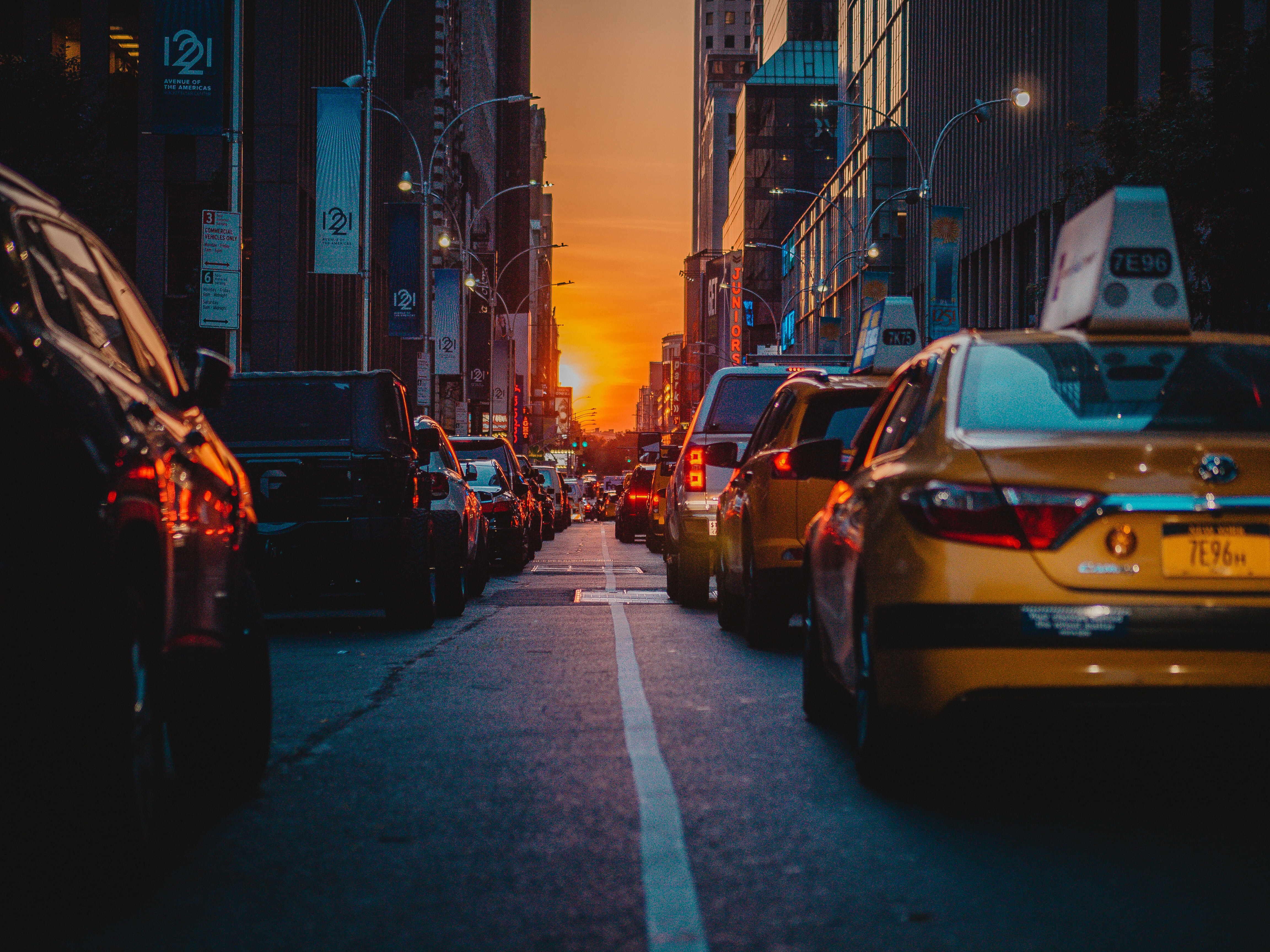 low light photography of street cars