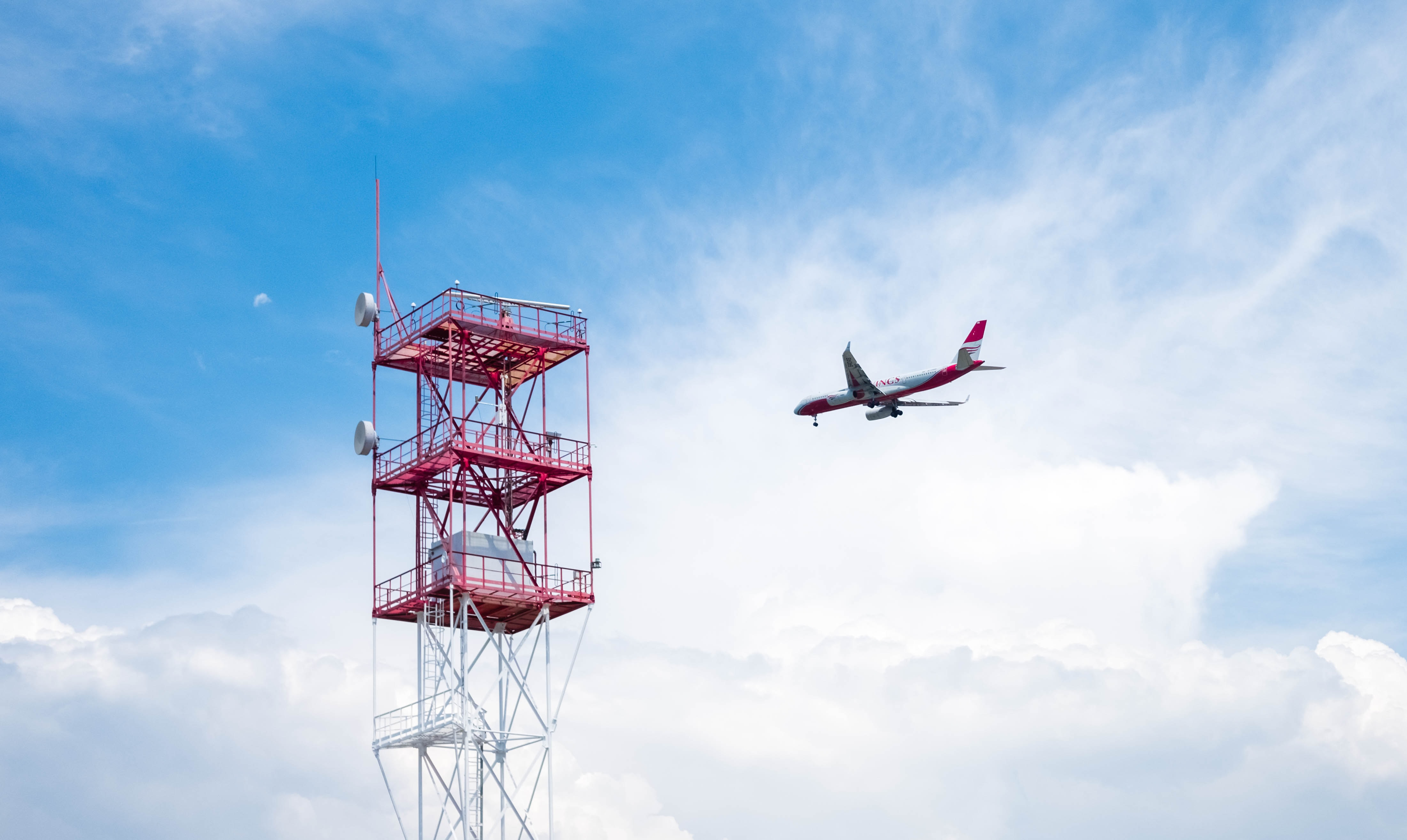 flight aircraft beside satellite