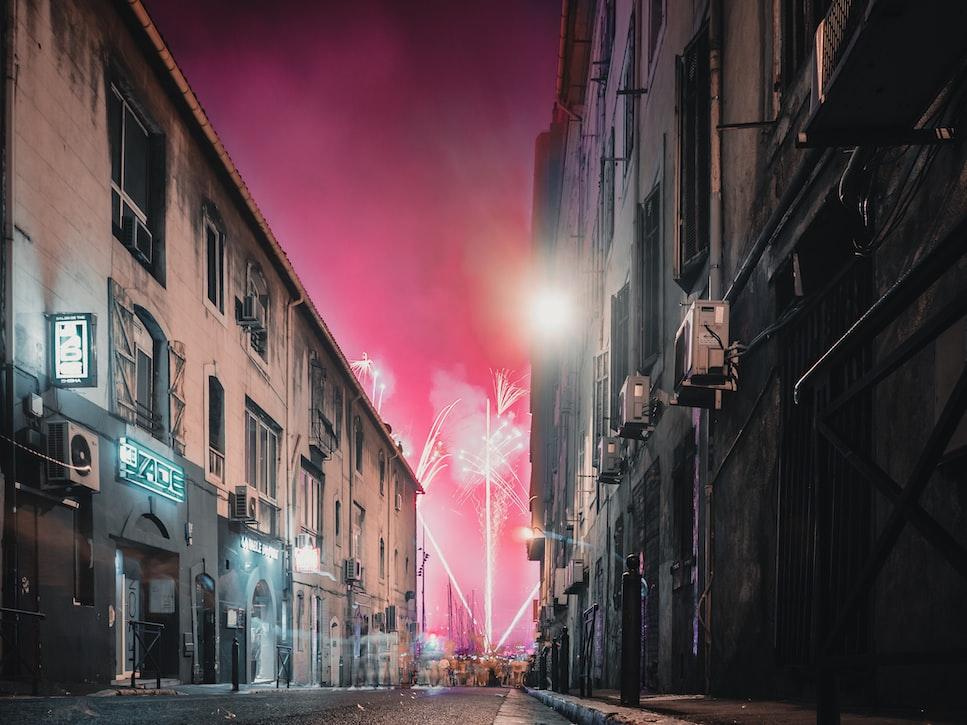 Fireworks at Vieux Port