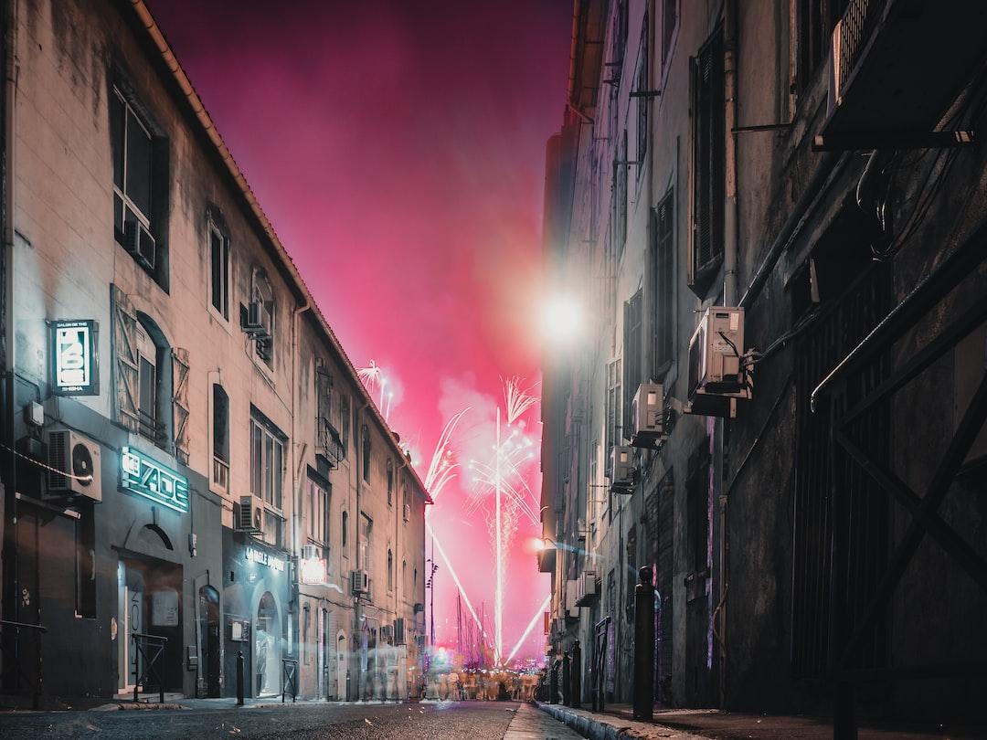 Fireworks Vieux Port