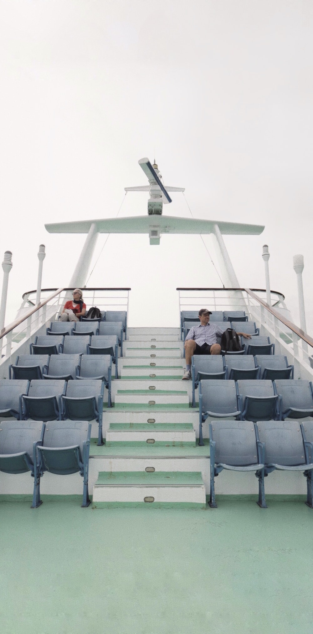 white and black cruise ship chairs