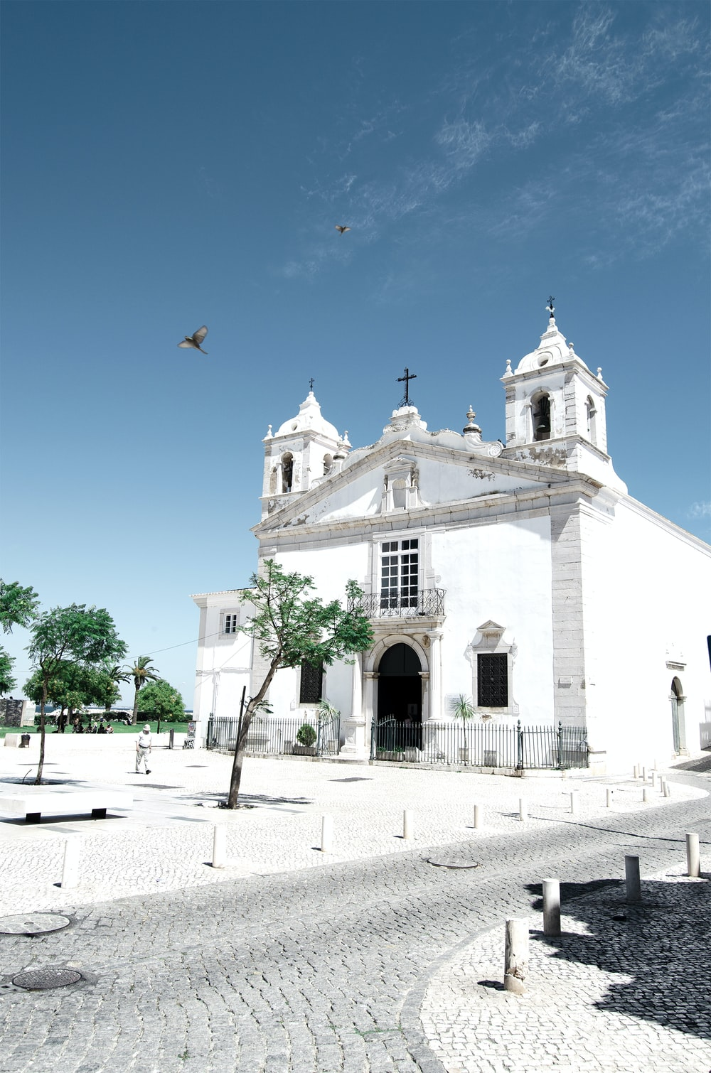 white painted cathedral