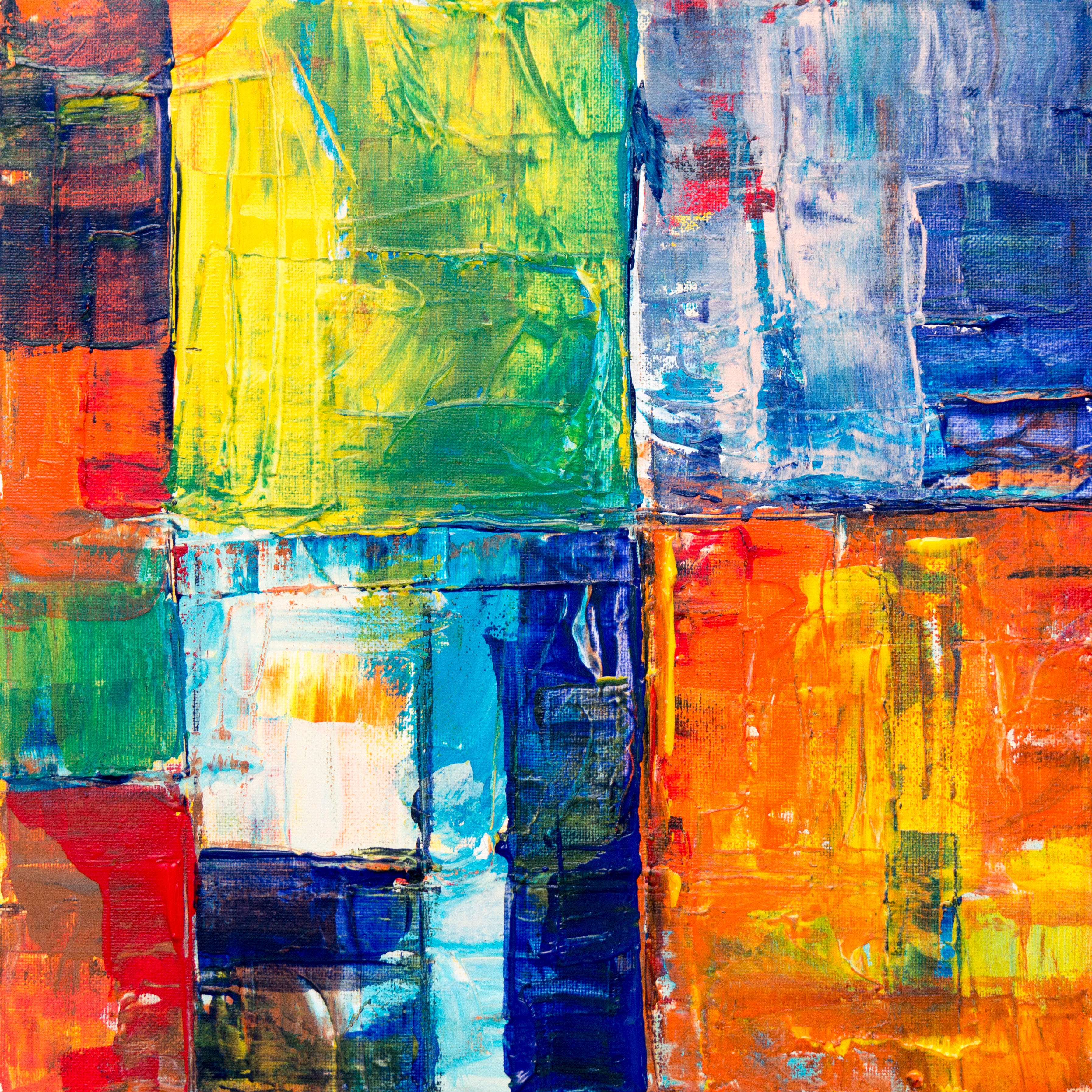 rectangular oil-based abstract painting