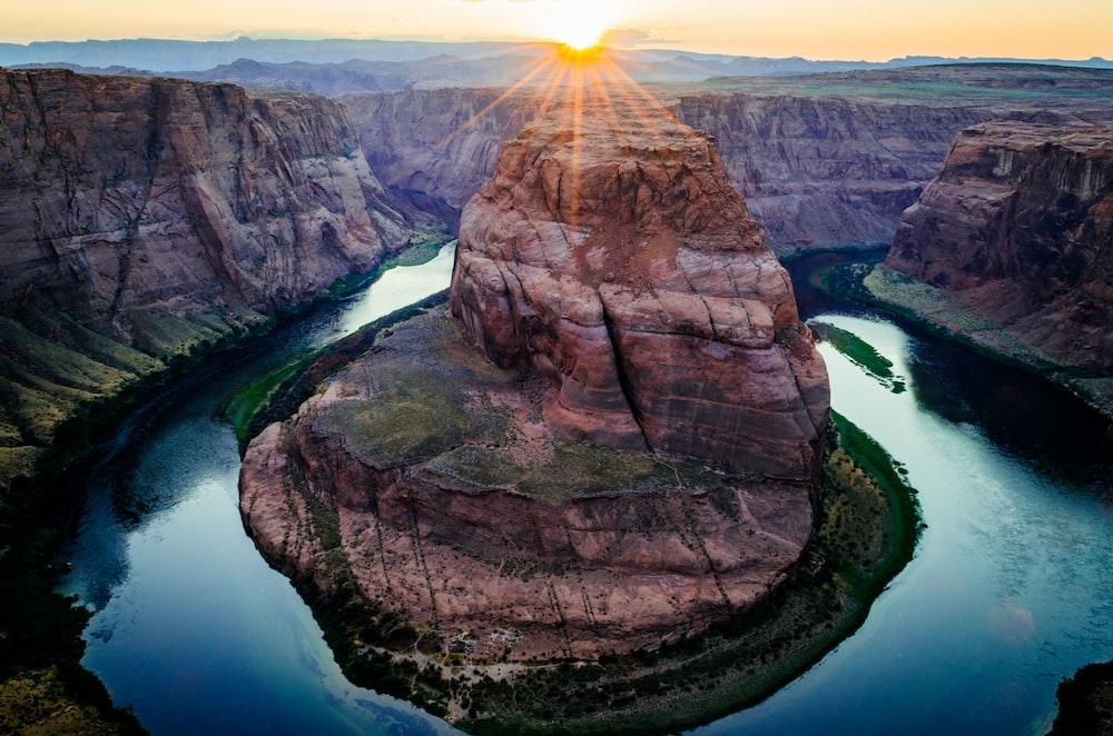 Horseshoe River Grand Canyon in Arizona during daytime