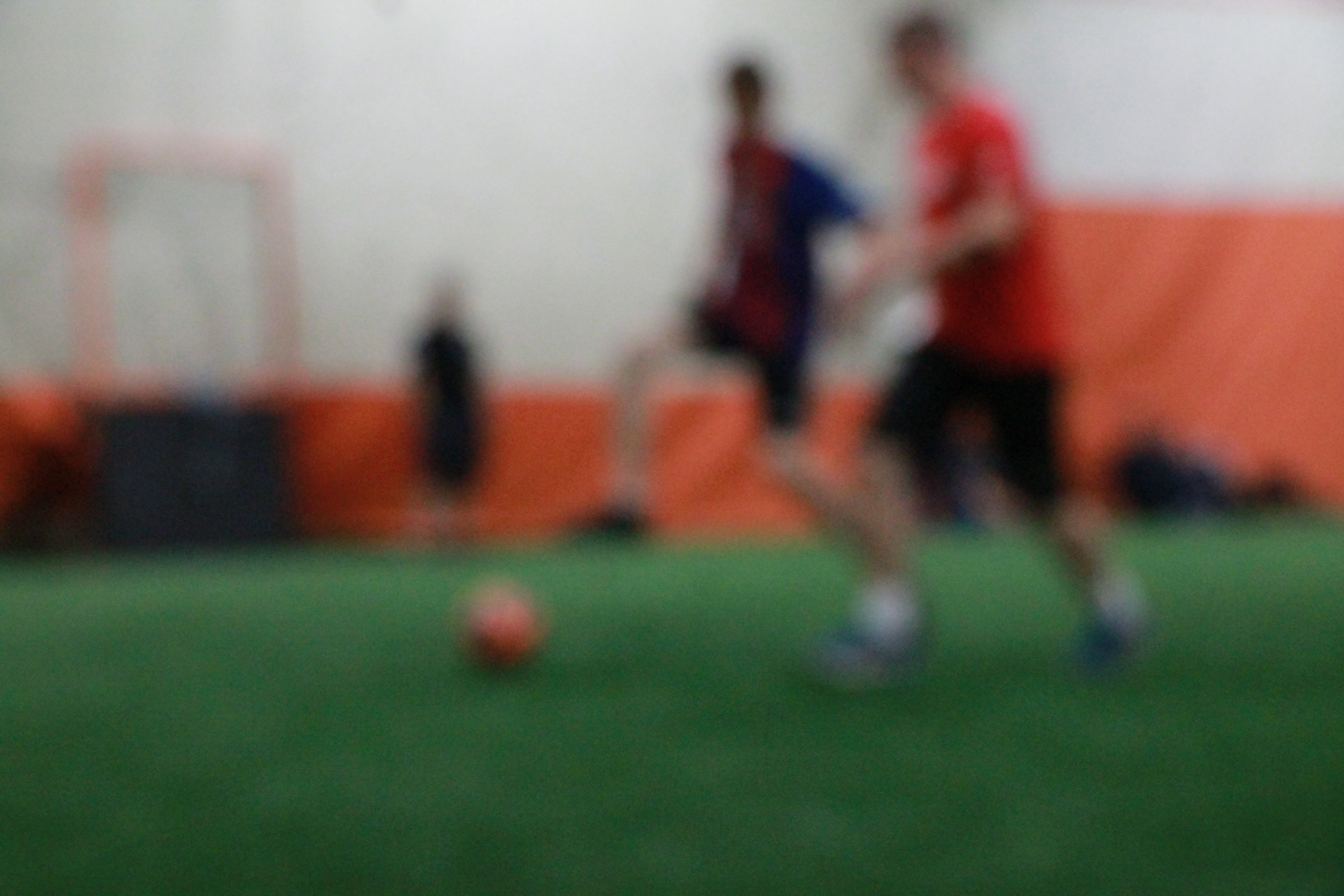 two man playing soccer