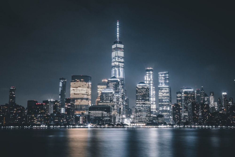 landscape photography of high-rise building during nighttime