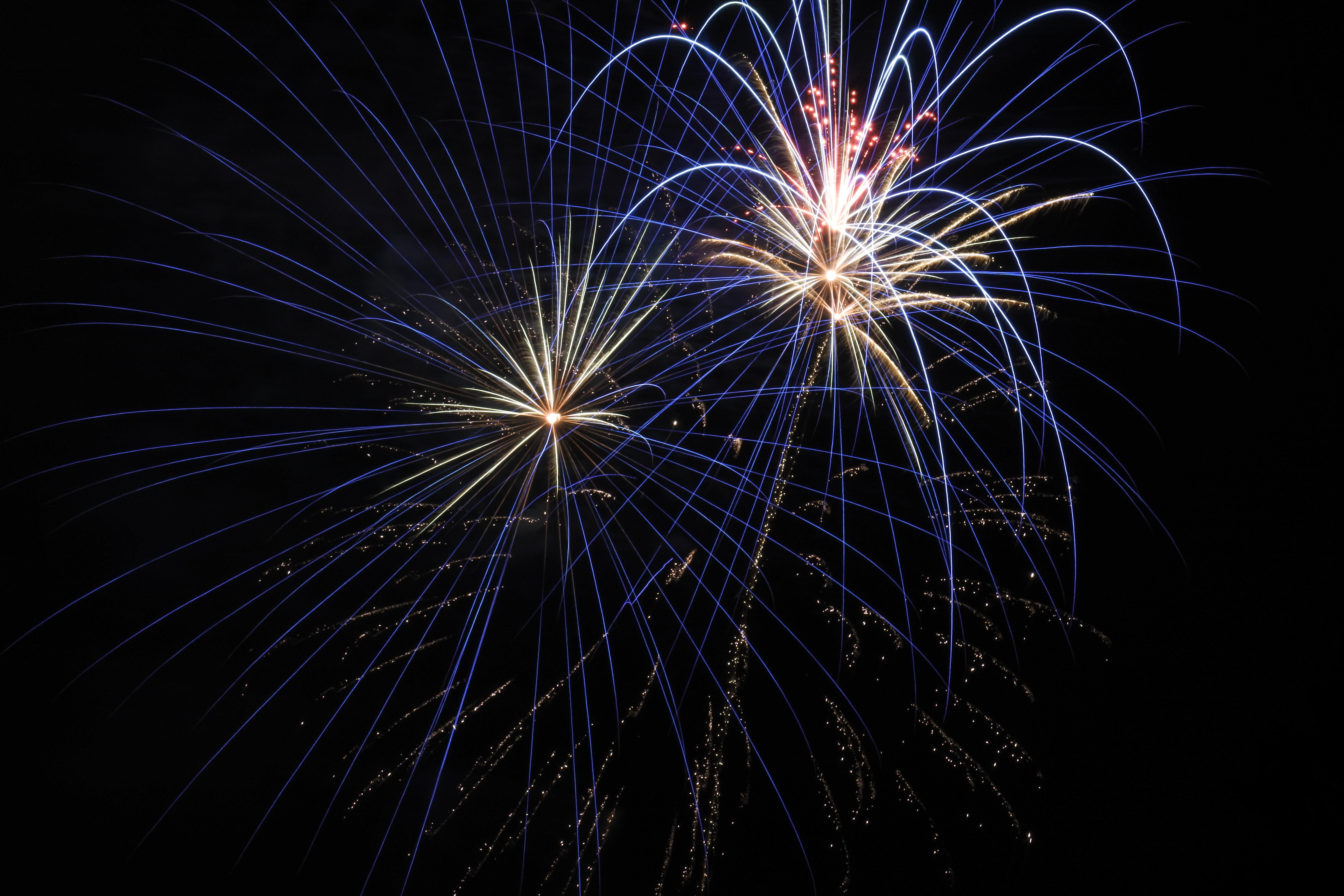 fireworks light in the air