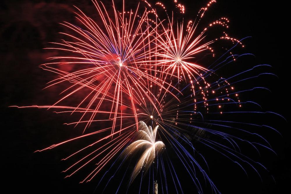 fireworks in black sky