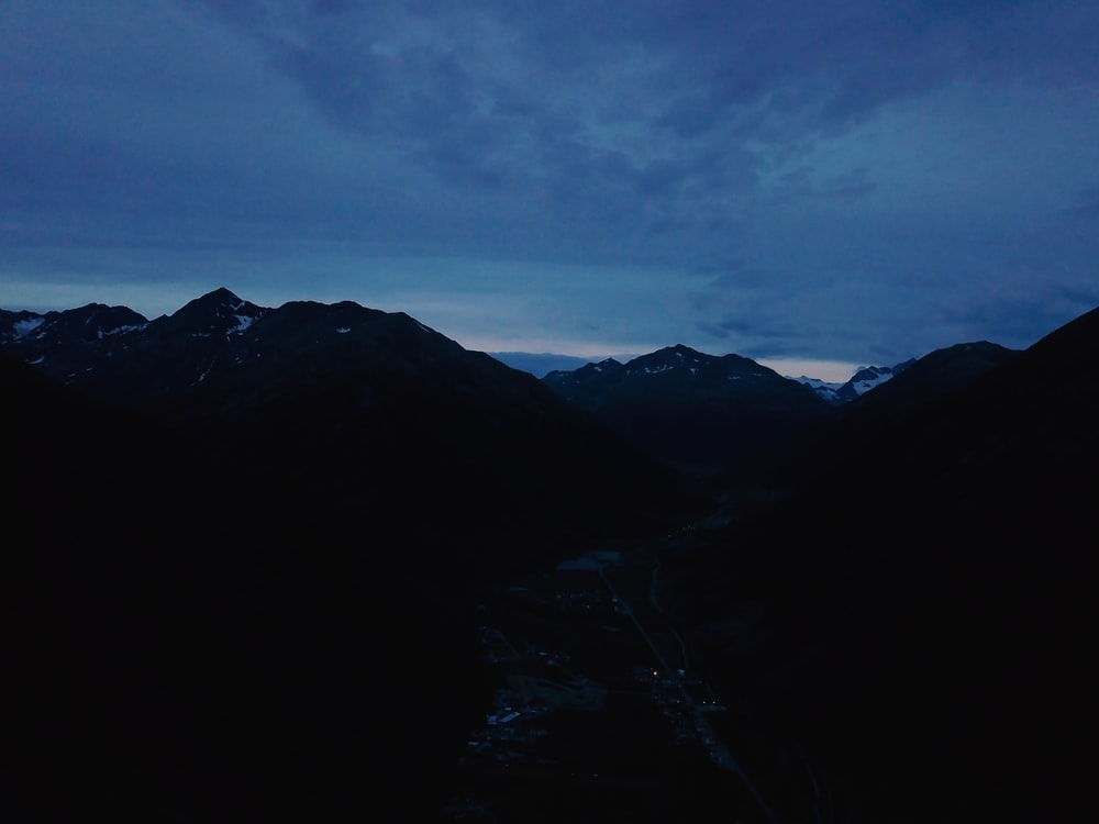 landscape of black mountain