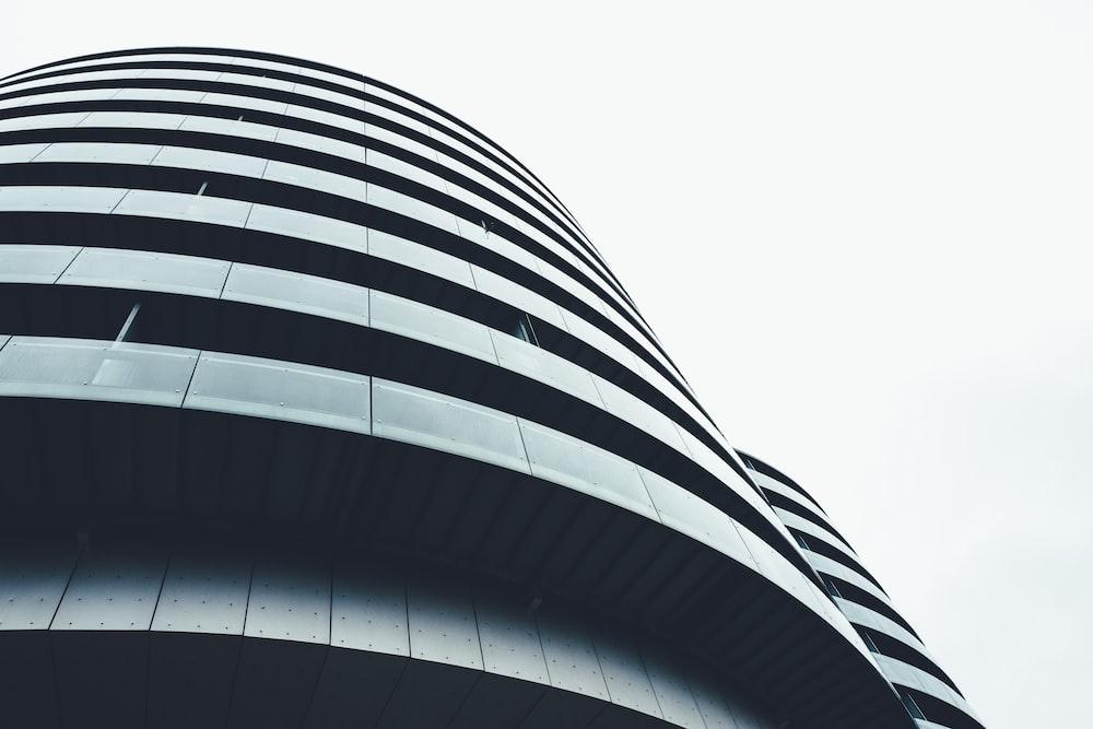 ant view concrete building under clear sky