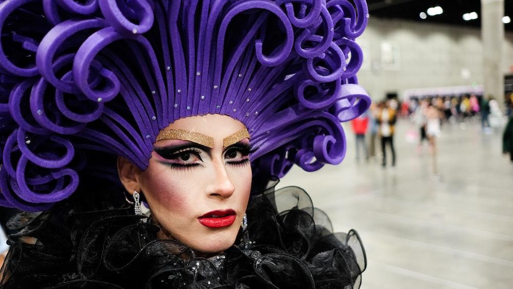 photo of woman wearing head dress