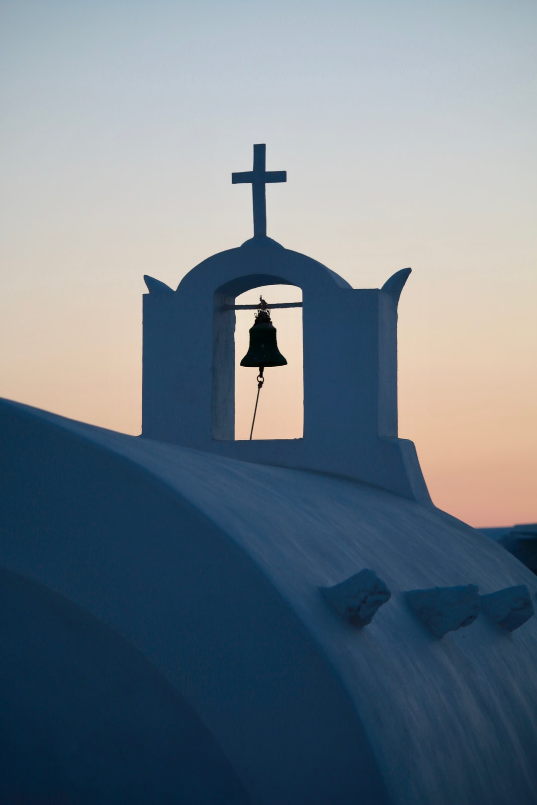 Church bell in Oia, Santorini, Greece