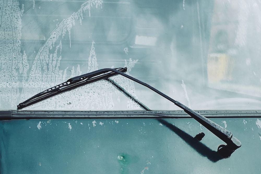 car wiper on windshield
