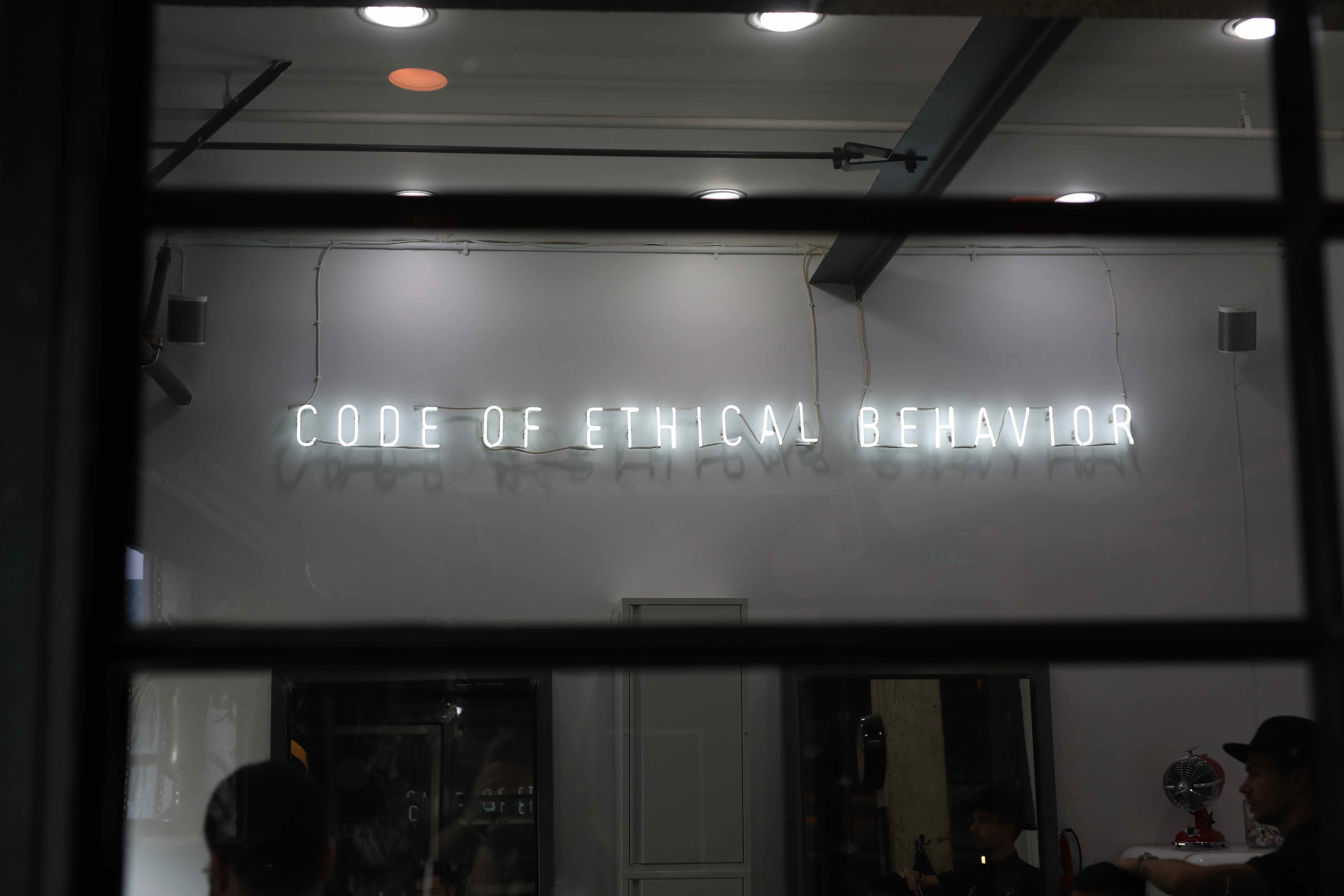 Code of Ethical Behavior shop front