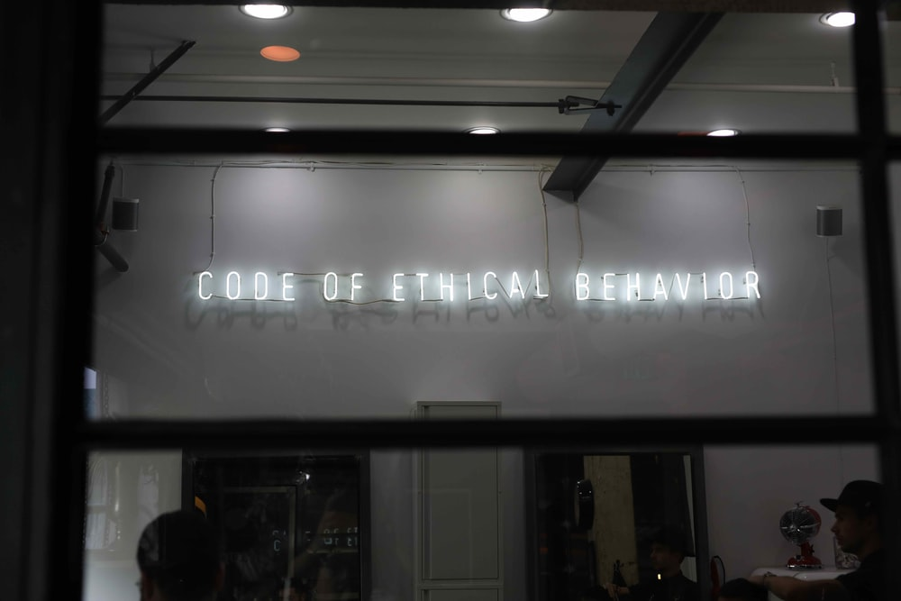 Code of Ethical Behavior shop front
