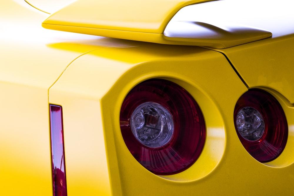 red vehicle headlights