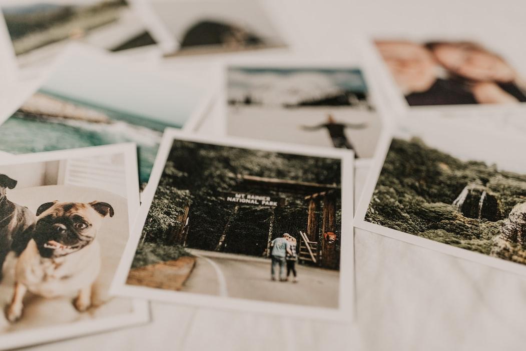 polaroids with relationship memories