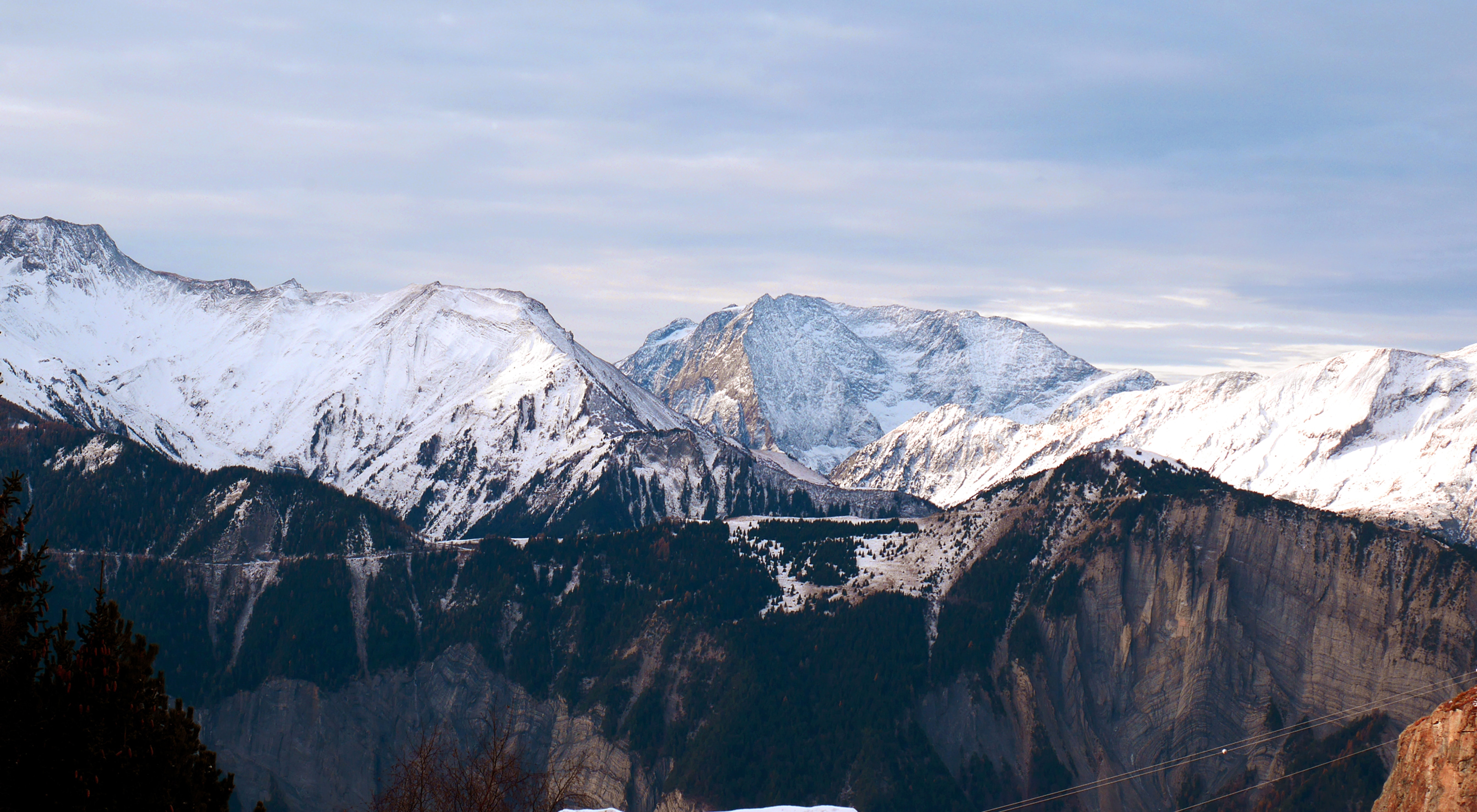 aerial photography of mountain alps