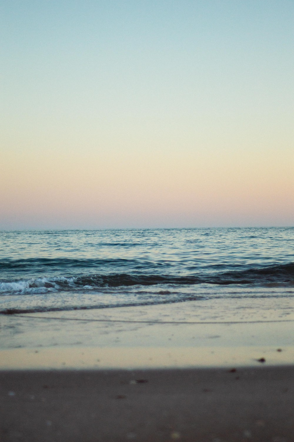 seashore beside body of water