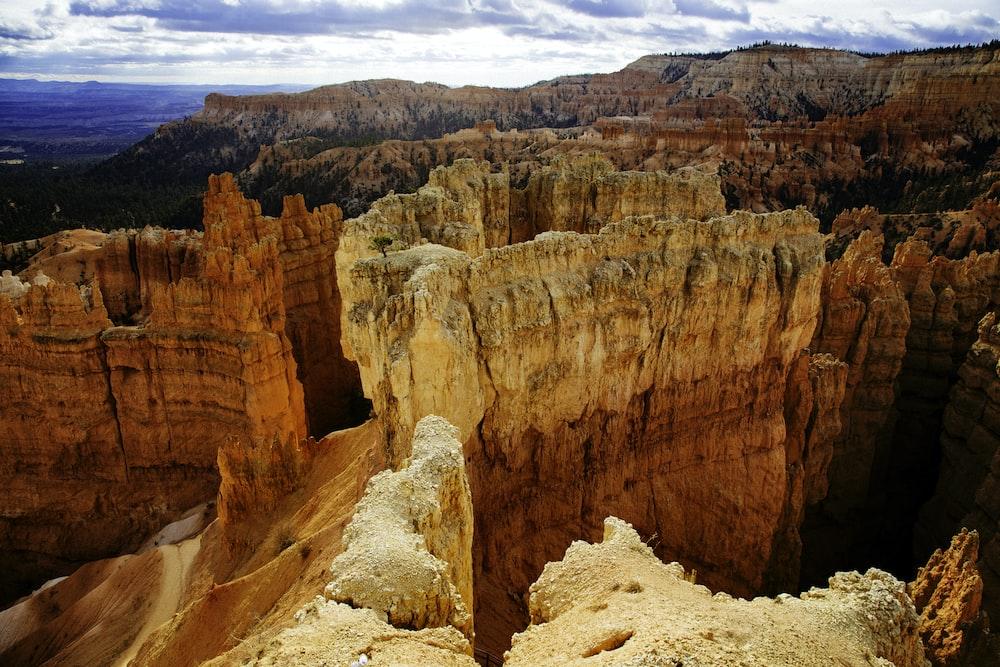 scenery of mountain canyon
