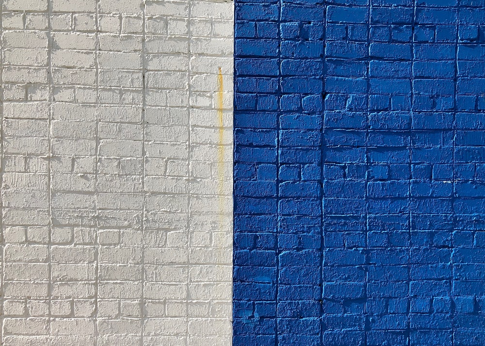blue and white wall paint