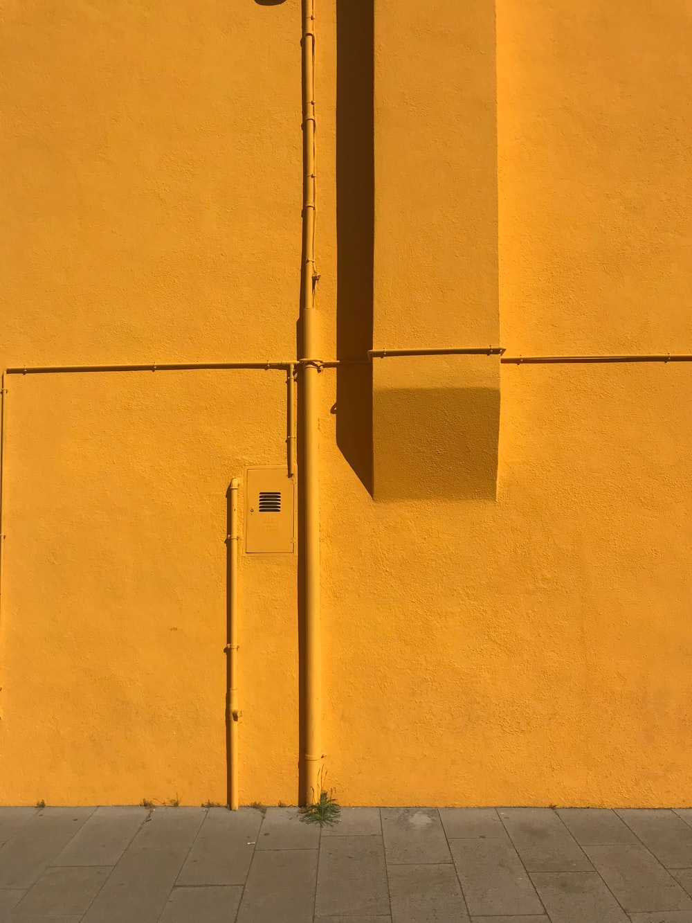 orange concrete wall