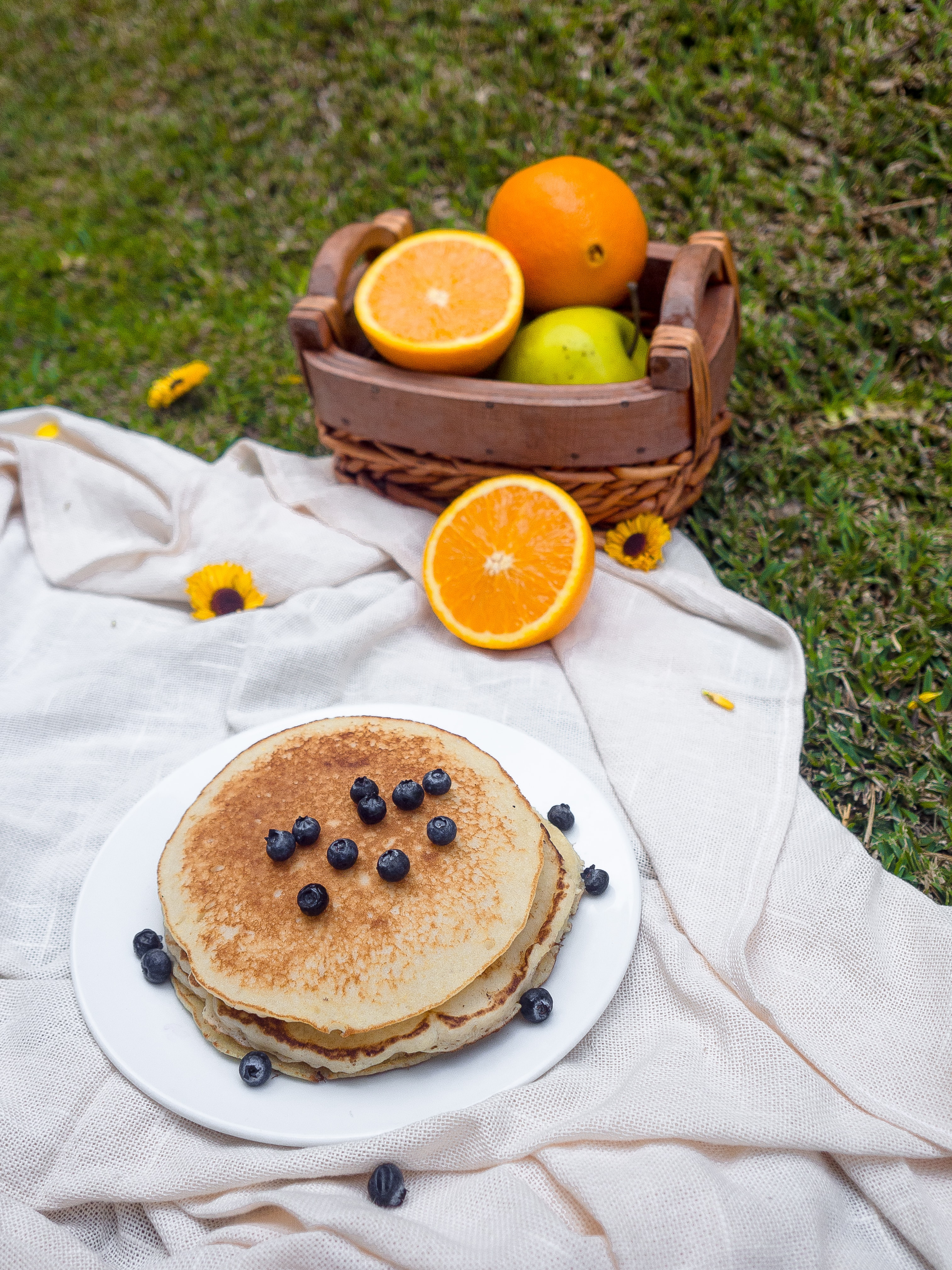 pancake with blueberries