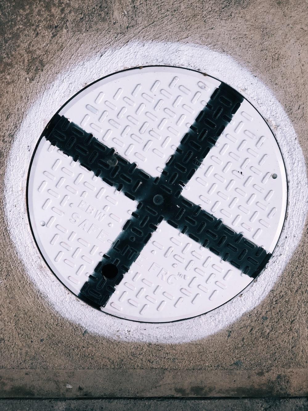 close-up photo of manhole