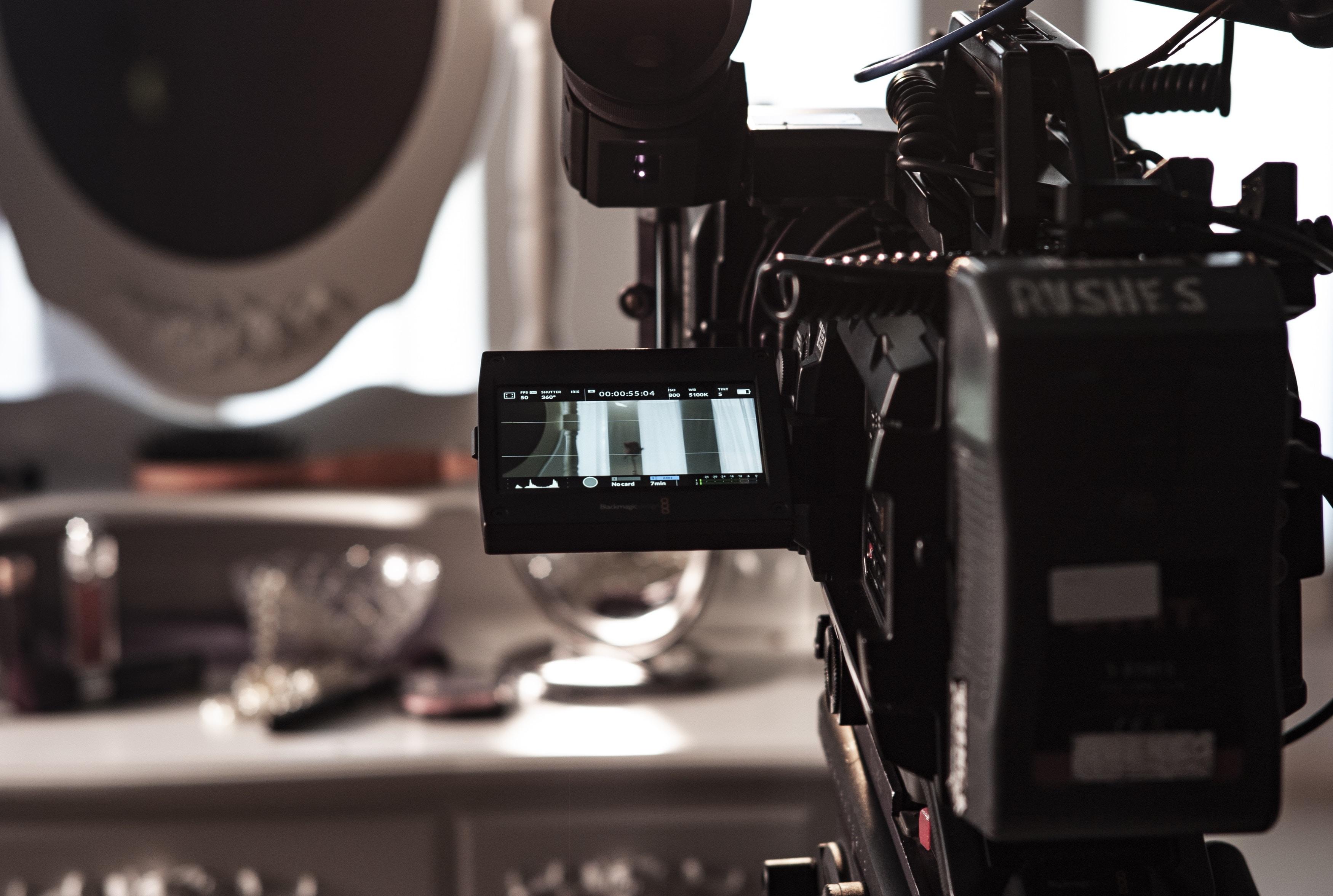 closeup photo of black camera