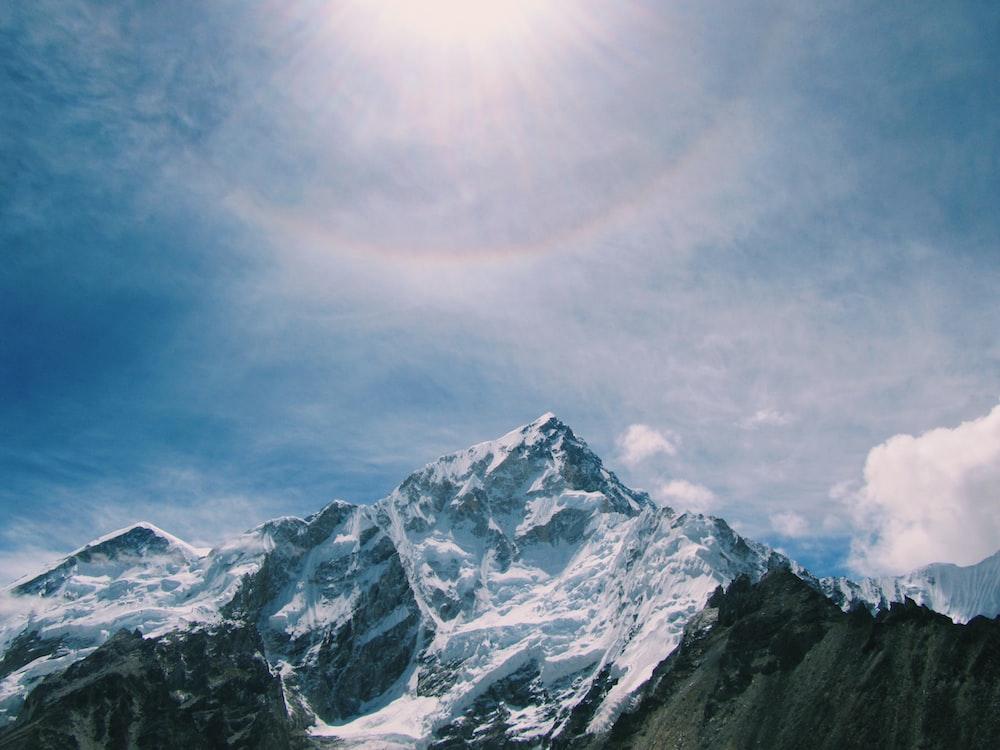 mountain alps under blue sky
