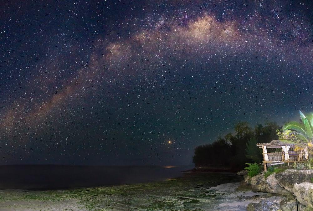 sea under starry sky