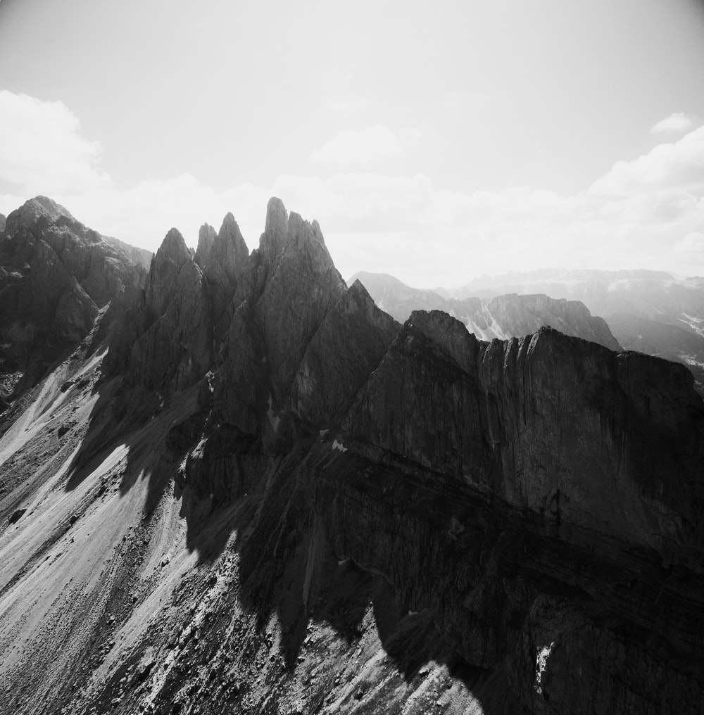 panoramic photography of mountain alps