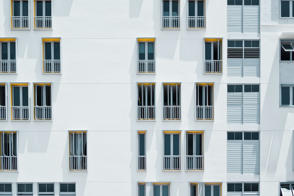 photo of white concrete building