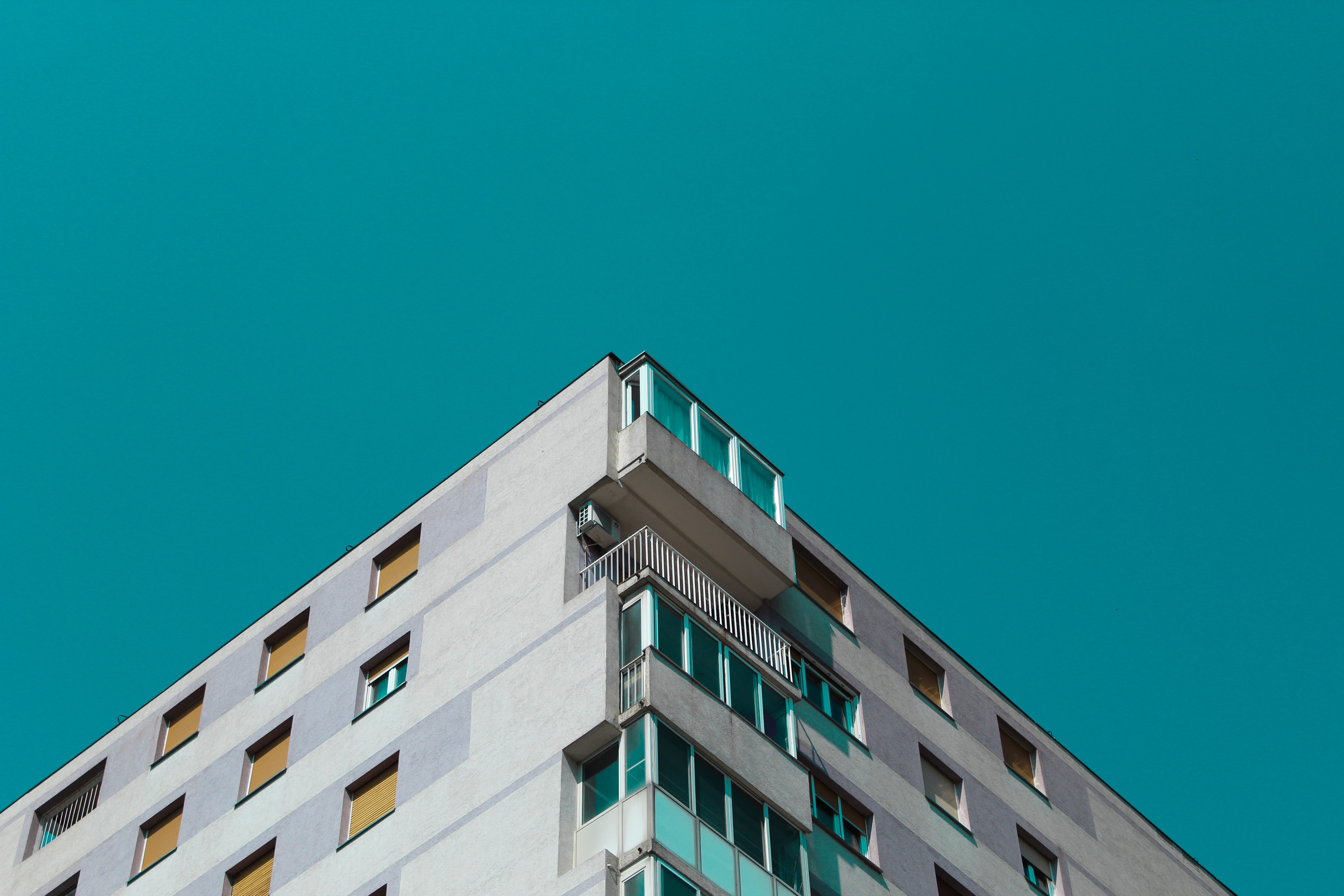 minimalist photography of high-rise building
