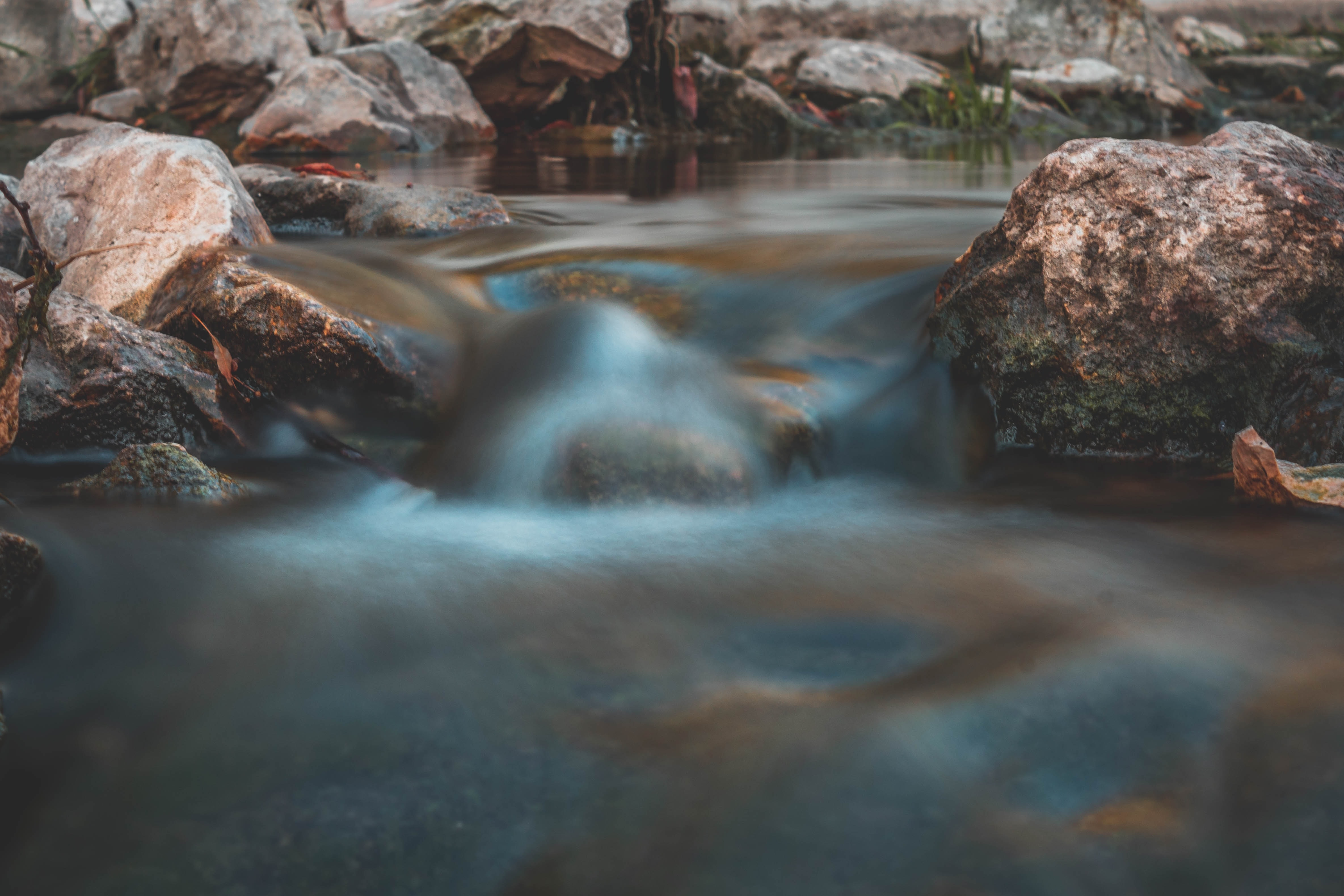 time lapse photography of river