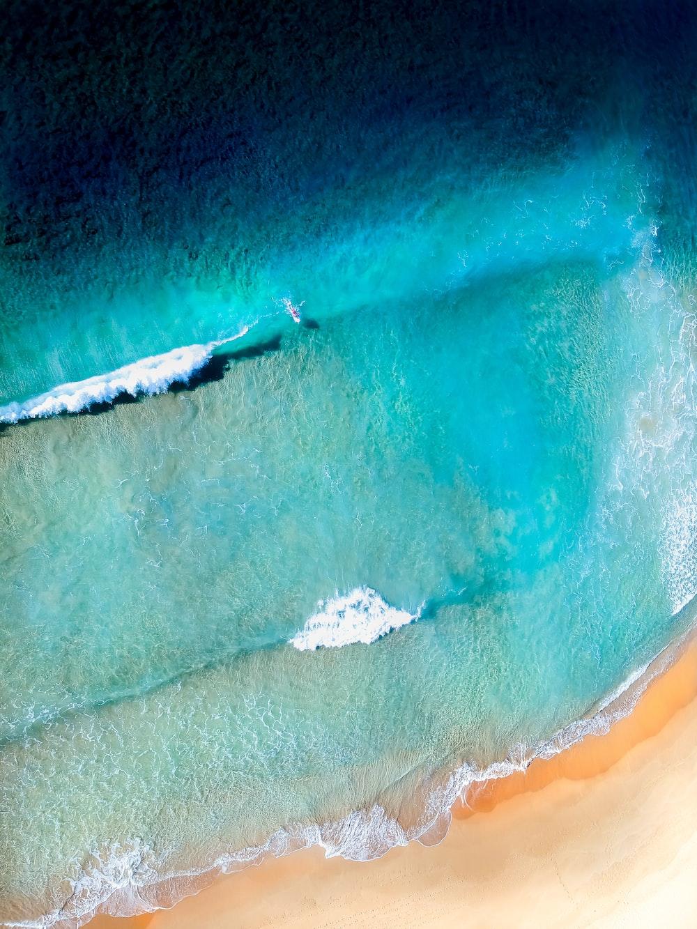 sea waves near shore
