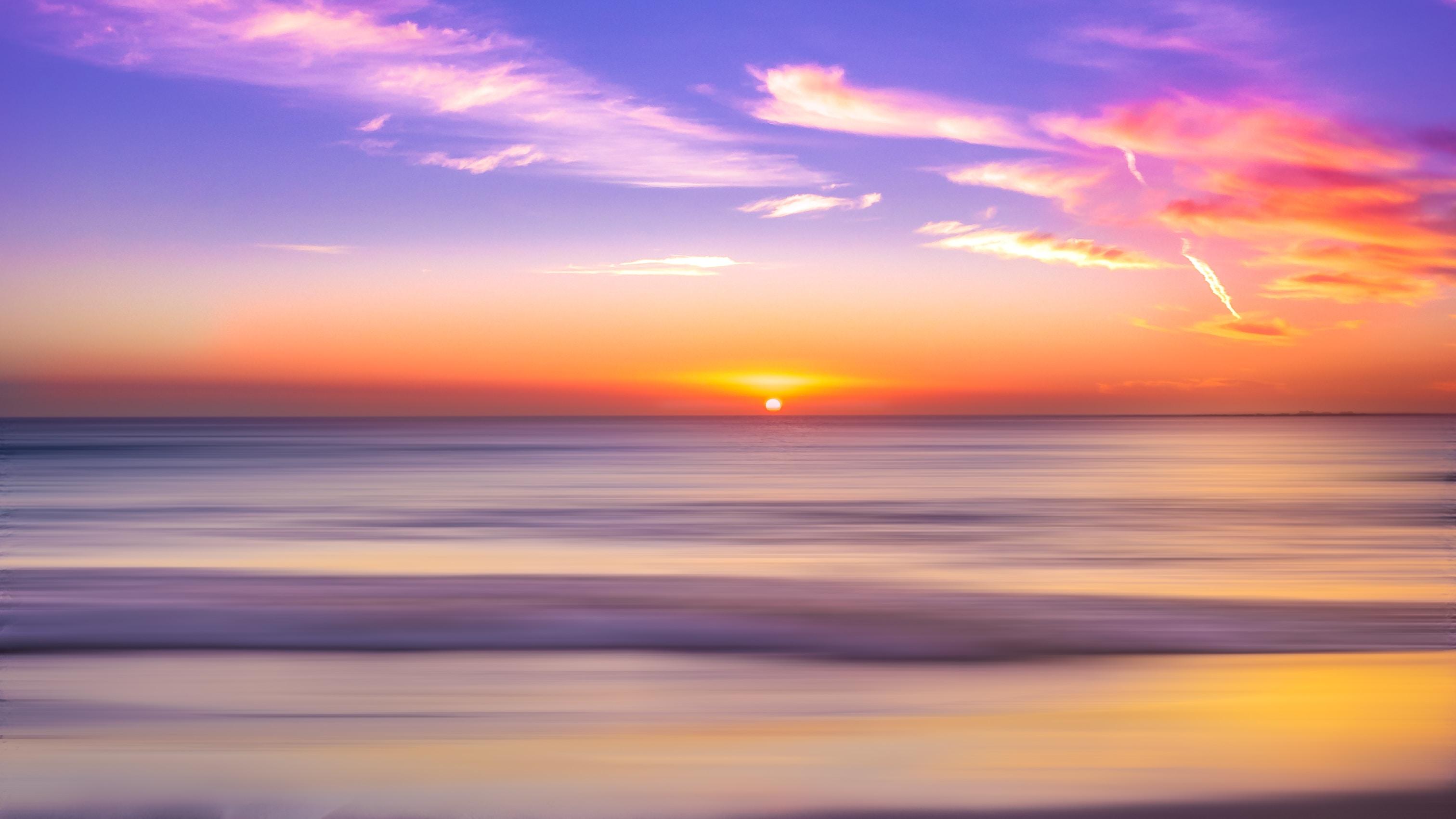 seashore during sunset