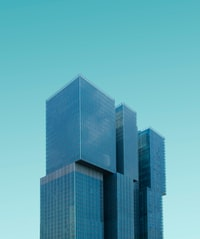 teal high rise building