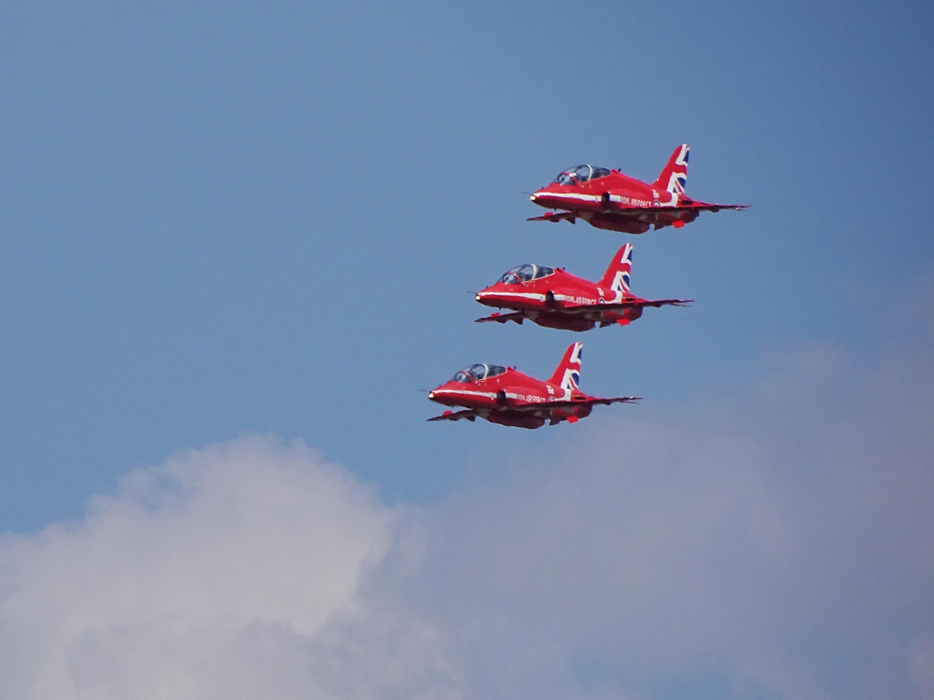 three aircraft's photo