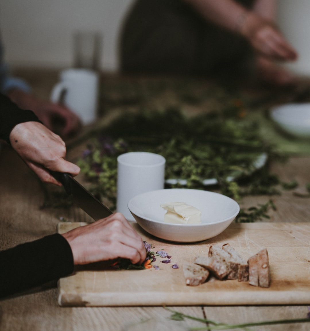 Food prep, chopping herbs