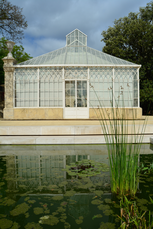 white metal garden