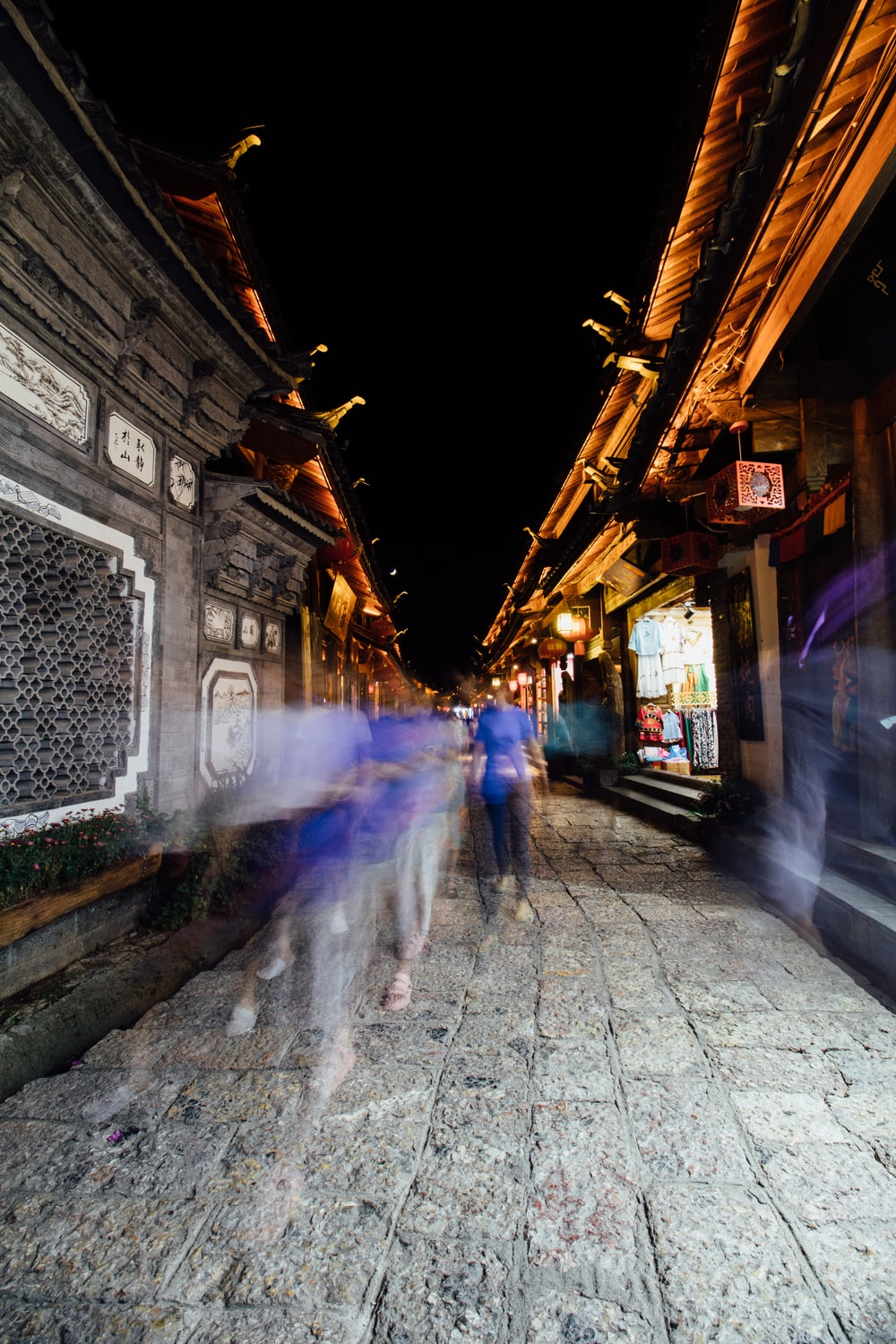 time lapse photography on street