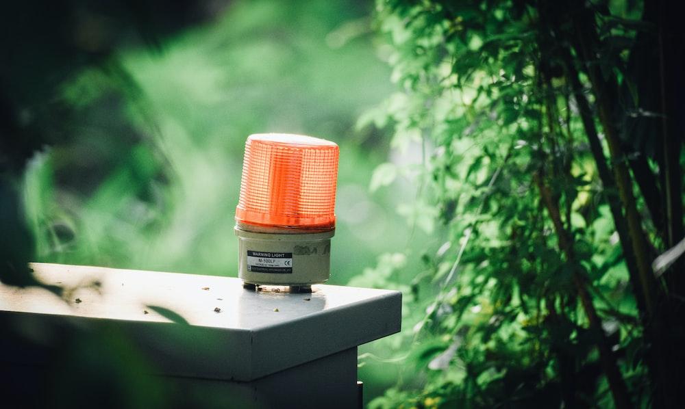 light beacon on table