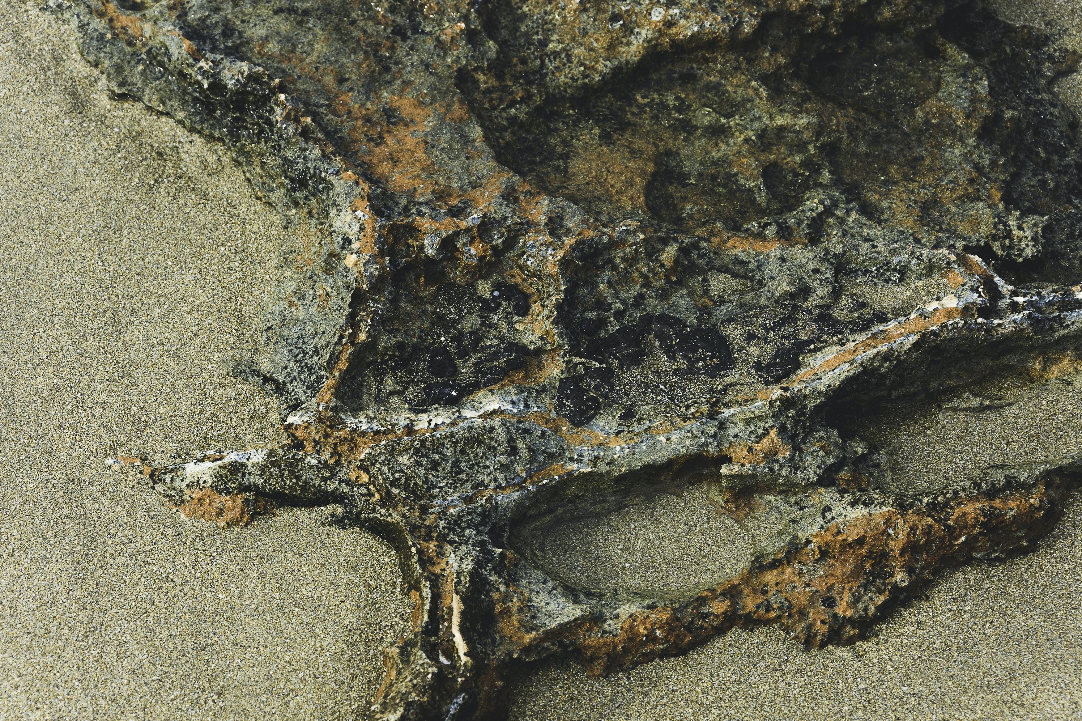 gray stone fragment